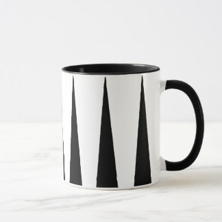 Black and White Color Block Mug