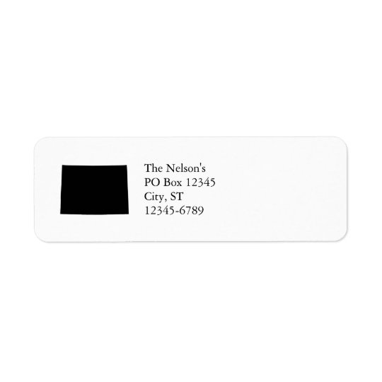 Black and White Colorado Return Address Label