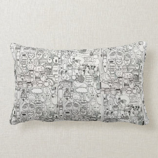 Black and White Comic Pillow