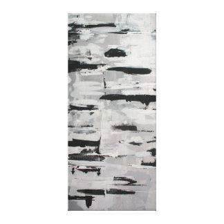 black-and-white composition abstractly canvas print