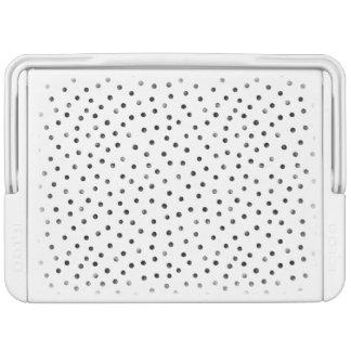 Black And White Confetti Dots Cooler