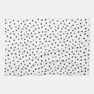 Black And White Confetti Dots Hand Towels