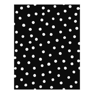 Black And White Confetti Dots Pattern Flyer