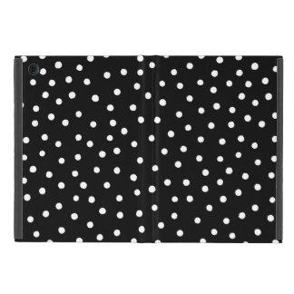 Black And White Confetti Dots Pattern iPad Mini Cover