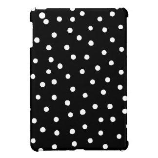 Black And White Confetti Dots Pattern iPad Mini Covers