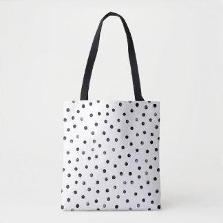 Black And White Confetti Dots Tote Bag