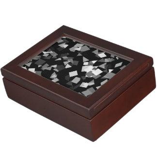 Black and White Confetti Memory Box