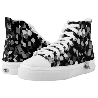 Black and White Confetti Printed Shoes