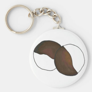 Black and White Cookie Cookies NYC New York City Key Ring
