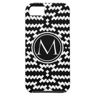 Black and White Cool Chevron Case For The iPhone 5
