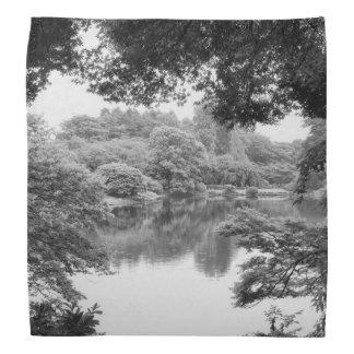 Black and white, cool, unique nature and lake bandana