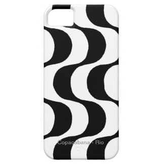 black and white copacabana, RJ iPhone 5 Case