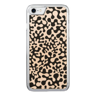 Black and White Coral Blots Carved iPhone 7 Case