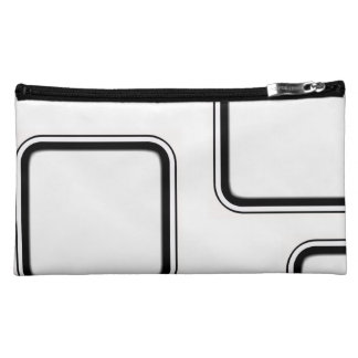 Black and White Cosmetic Bag