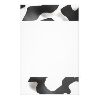 Black And White Country Cow Pattern Stationery