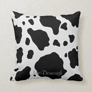 Black and White Cow Animal Pattern Print Cushion