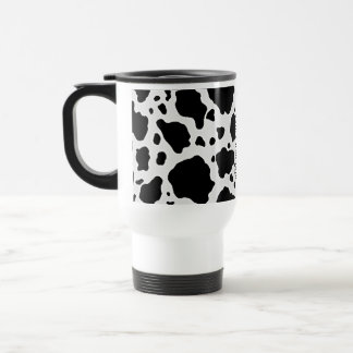Black and White Cow Animal Pattern Print Travel Mug