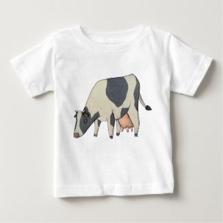 Black and White Cow Baby T-Shirt