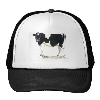 black and white cow baseball cap mesh hats