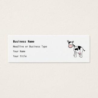 Black and White Cow Cartoon. Mini Business Card