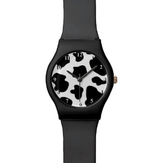 Black and white cow pattern | Cowhide print watch