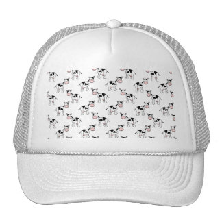 Black and White Cow Pattern. Mesh Hat