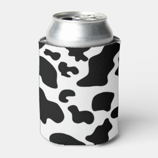 Black and White Cow print Can Cooler