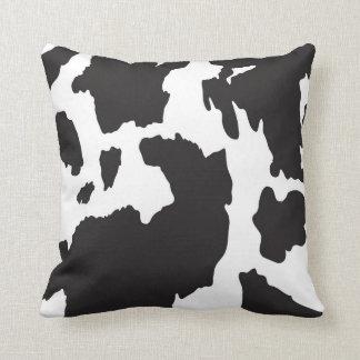 Black and White Cow Print Cushion