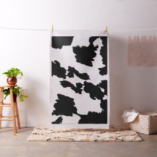 Black and White Cow Print Fabric