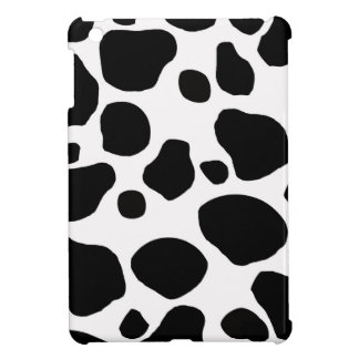 Black And White Cow Print iPad Mini Case