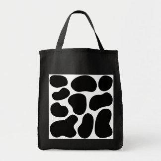 Black and White Cow Print Pattern Canvas Bag