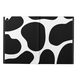 Black and White Cow Print Pattern. Cover For iPad Air