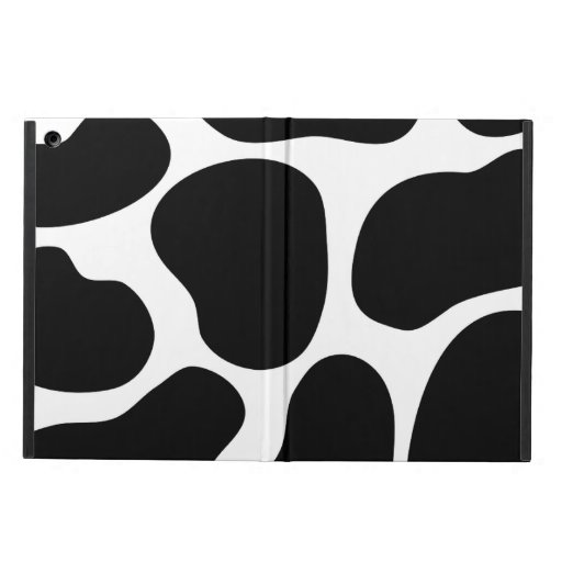 Black and White Cow Print Pattern. iPad Air Cover
