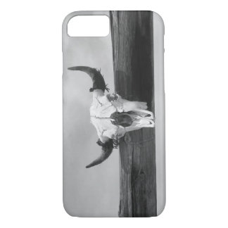 Black and White Cow Skull iPhone 7 Case