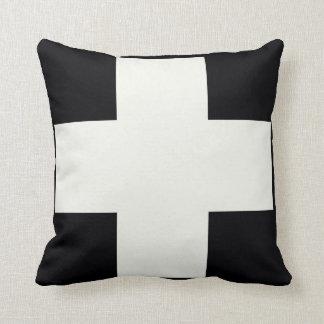 Black and White Cross Cushion