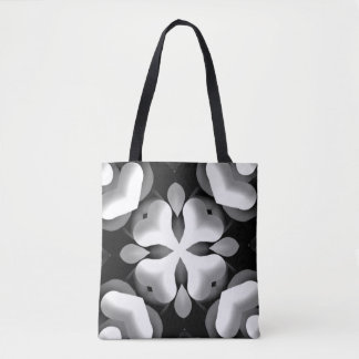 Black and White Crossbones Hearts Tote Bag
