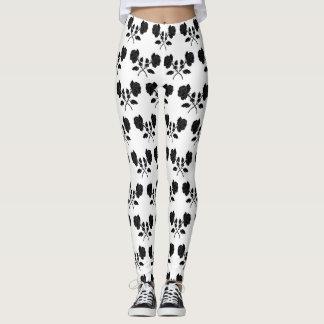 Black and White Crossed Pattern Leggings