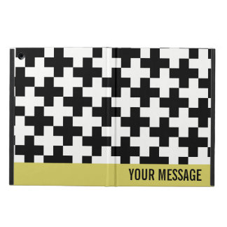 Black and white crosses linked iPad air case