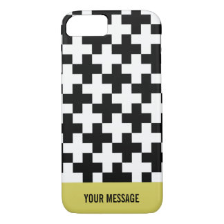 Black and white crosses linked iPhone 8/7 case