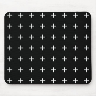 Black And White Crosses Mouse Pad