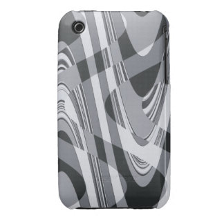 Black and White Curves iPhone 3 Cover