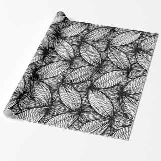 Black And White Curvy Big Stripes Paper Roll