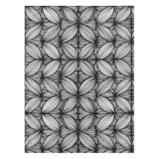 Black And White Curvy Stripes Tablecloth