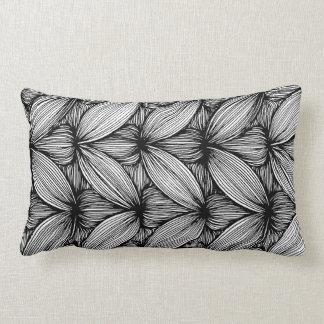 Black And White Curvy Stripes Throw Pillow