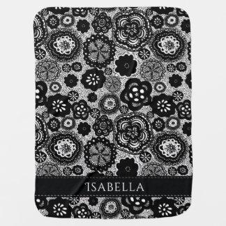 Black and White Custom Baby Blanket