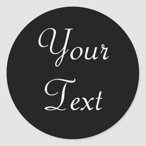 Black and White Custom Envelope Seals with Text Round Stickers