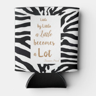 Black and White Customisable Inspirational quote. Can Cooler