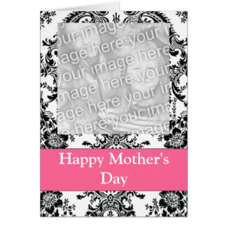 Black and White  Customizable Photo Greeting Card