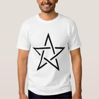 Black and White Cut Pentagram T-shirts
