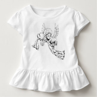 Black and white Cute Angel with heart Toddler T-Shirt